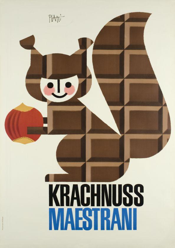 Krachnuss Maestrani Chocolat, by Bender Paul, circa 1950s - Switzerland