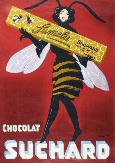 Vintage Chocolat Suchard Poster, circa 1900s, Switzerland