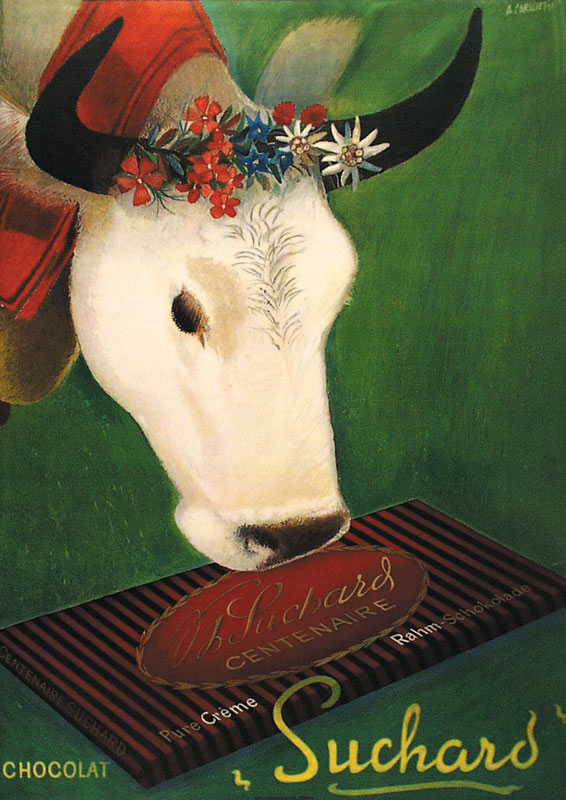 Vintage Chocolate Poster for Suchard circa 1937