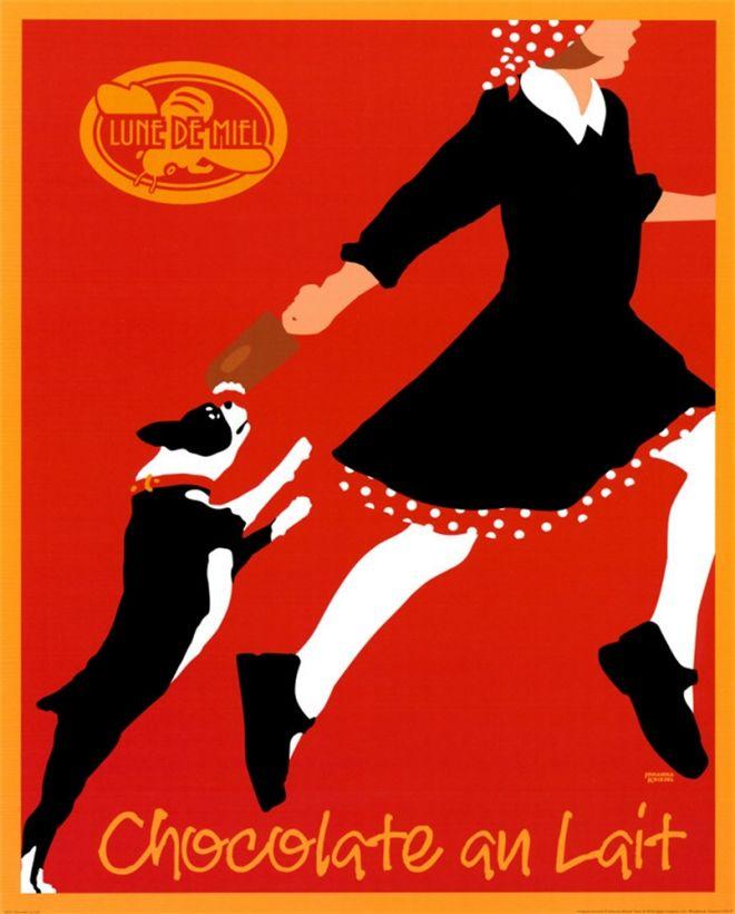 Lune de Miel Chocolate au Lait Poster by Johanna Kriesel