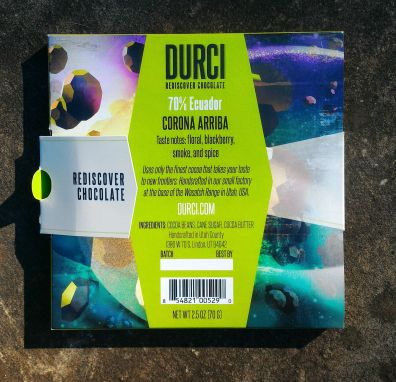 Durci Chocolate Packaging Back