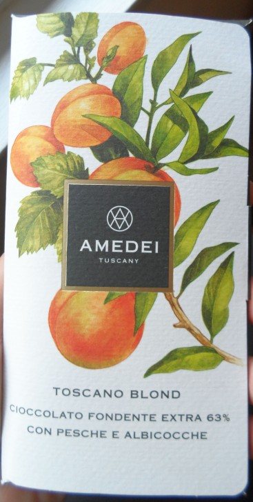 Ademei Tuscany Toscano Blond chocolate bar packaging